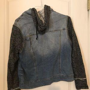 Mossimo Supply Co. Jackets & Coats - Mossimo Hooded Denim Jacket